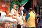 પોરબંદરઃ કોકીલાબેને સાંદીપની આશ્રમમાં ગુરુ વંદના કાર્યક્રમમાં આપી હાજરી