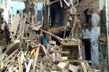 જામનગરઃ વરસાદને કારણે મઠફળી વિસ્તારમાં મકાન ધરાશાયી, મહિલાને ઇજા