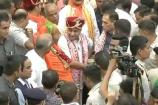 #Rathyatra: ભગવાન જગન્નાથ, બલરામ અને સુભદ્રાજીને મંદિરમાંથીરથમાં બિરાજમાન કરાયા
