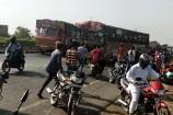Video: અમદાવાદ-મુંબઈ હાઇવે પર ટ્રેલર, બસ અને કાર વચ્ચે અકસ્માત