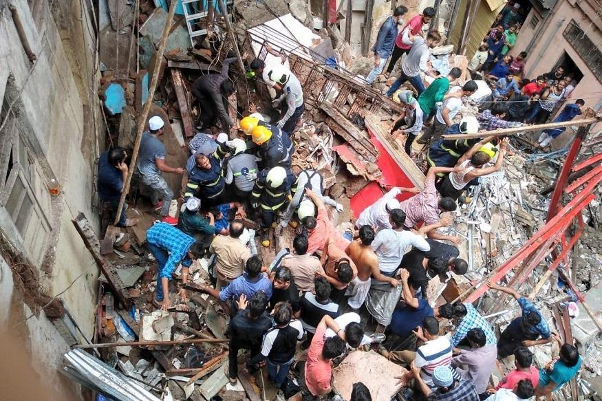 મુંબઇમાં ચાર માળની બિલ્ડિંગ ધરાશાયી, 12 લોકોનાં મોત