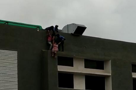 જૂનાગઢ સિવિલના પાંચમાં માળેથી મહિલાનો આત્મહત્યાનો પ્રયાસ, ચોકીદારે બચાવી